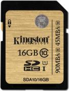 Карта памяти SDHC 16GB Class 10 Kingston SDA10/16GB