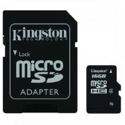 Карта памяти Kingston microSDHC 16Gb Class 4 (SDC4/16Gb)