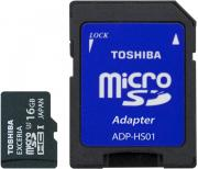 Toshiba SD-CX16UHS1 + SD adapter