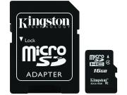 Карта памяти Kingston Technology MicroSD HC 16 ГБ class 4 (с...