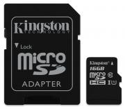 Карта памяти KINGSTON microSDHC 16GB Class 10 UHS-I 45 Мб/с (с...