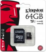 Карта памяти Kingston microSDXC Class 10 UHS-I 45MB/s 64GB...