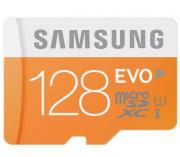 Карта памяти Samsung microSDXC EVO 128Gb + SD-адаптер