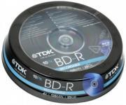 Диск BD-R TDK, Blu-Ray 4x, 25 Gb, Cake Box (10шт.) []