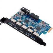 Контроллер Orico PVU3-5O2I, 5+1 port USB3.0, PCI-E