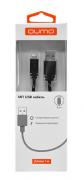 Кабель интерфейсный USB 2.0 Qumo AM-Apple 8 pin