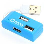 Хаб USB 5bites HB24-201BL USB 4 ports Blue