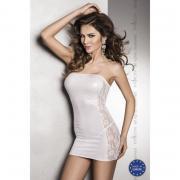 Маленькое белое платье с кружевной вставкой Vena white L/XL 10695PAS