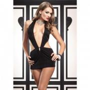 Платье с V-образным вырезом, размер OS, Leg Avenue LA86024black