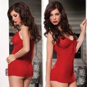 Seven til Midnight красное полупрозрачное мини-платье с трусиками