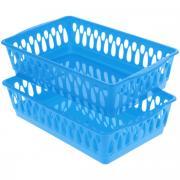 """Набор корзинок """"Dommix"""", цвет: синий, 24,5 см х 15,5 см х 6 см, 2 шт"""