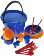 """Набор пластиковой посуды """"Solaris"""", в контейнере, на 2 персоны"""