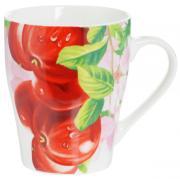 """Кружка Loraine """"Яблоко красное"""", цвет: красный, зеленый, розовый, 340..."""