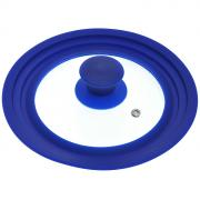 Крышка универсальная Borner, диаметр 16 см, 18 см, 20 см, цвет: синий....