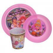 """Набор детской посуды """"Принцессы"""", цвет: розовый, 3 предмета"""