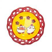 "Тарелка Home Queen ""Цыплята с узором"", диаметр 15,5 см"