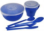 """Набор посуды Solaris """"Походный"""", цвет: синий, на 1 персону"""