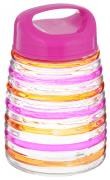 "Банка для сыпучих продуктов Bohmann ""Кольца"", цвет: розовый,..."