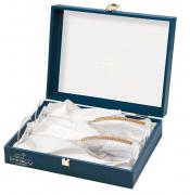 Бокалы для шампанского свадебные Chinelli, кристаллы сваровски