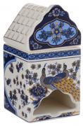 """Банка для чайных пакетиков Elan Gallery """"Синий павлин"""""""