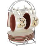 Чайный набор из 9 предметов на 4 персоны Terracotta Шеф-повар...