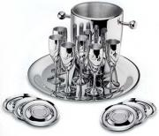 Посуда Zepter Набор для шампанского Ла Перле (на 6 персон стальной),...