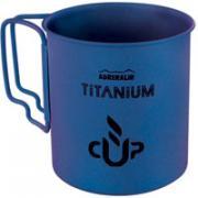 """Кружка походная Adrenalin """"Titanium"""", цвет: голубой, 450 мл"""