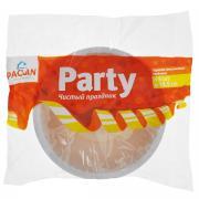 "Набор пластиковых тарелок Paclan ""Party"", цвет: белый, диаметр 18,5..."