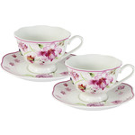 Чайный набор 4 предмета на 2 персоны Primavera Розовые цветы...