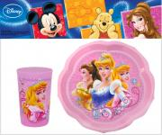 """Набор детской посуды """"Принцессы"""", цвет: розовый, 2 предмета"""