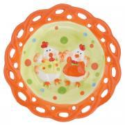 "Тарелка Home Queen ""Цыплята"", цвет: желтый, оранжевый, диаметр 17 см"