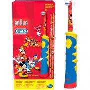 Электрическая зубная щетка Oral-B Mickey Kids для детей желтый/голубой...