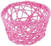 """Корзинка Home Queen """"Паутинка"""", цвет: розовый, 14,5 х 14,5 х 9 см"""