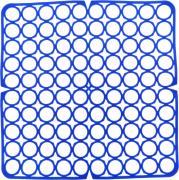 """Коврик для раковины """"York"""", цвет: синий, 27,5 х 27,5 см"""
