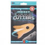 """Форма для печенья 3D Suck UK """"Ракета"""", цвет: голубой"""