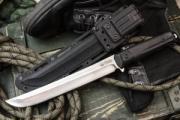 Нож с фиксированным лезвием, кратон, D2, сатин, Kizlyar Supreme Sensei