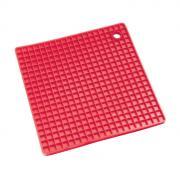 Прихватка-подставка вафельная силиконовая красная (Konig)