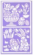 "Трафарет для декорирования яиц Home Queen ""Пасха. Зайчата"", 9 х 15 см"