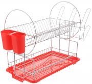 """Сушилка для посуды """"Mayer & Boch"""", цвет: красный, серебристый, 42 х 22..."""