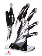 Набор ножей, 8 предметов Peterhof, цвет серебряный, черный