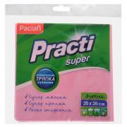 """Салфетка универсальная """"Practi Super"""", цвет: розовый, 35 см х 35 см, 3..."""