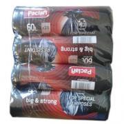 Пакеты мусорные Paclan Big&Strong 60 литров 20шт (4шт)