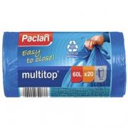 Пакеты мусорные Multitop Paclan 60 литров 20шт (2шт)