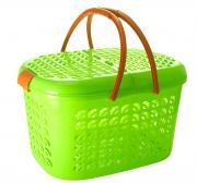 """Корзина-переноска """"Plastic Centre"""", малая, цвет: зеленый, прозрачный"""