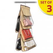 """Набор органайзеров для хранения сумок в шкафу Tatkraft """"Kanga"""", 3 шт"""