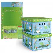 Короб для хранения Valiant Утята&Лягушата, 25x33x18,5 см, складной, 2...
