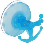"""Вешалка настенная Gimi """"Bingo"""", на присоске, цвет: голубой, 5 крючков"""