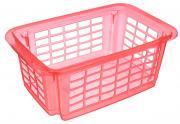"Корзина для хранения Dunya Plastik ""Стакер"", цвет: розовый, 31 х 20 х..."