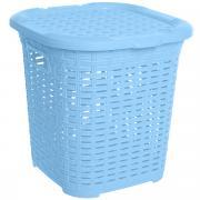 """Корзина многофункциональная Dunya Plastik """"Раттан"""", цвет: голубой, 15..."""