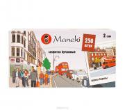 """Салфетки бумажные Maneki """"Dream"""", двухслойные, 21 х 19,6 см, 250 шт"""